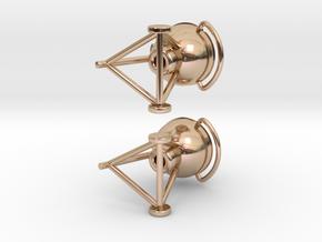 Grill Earrings in 14k Rose Gold Plated Brass