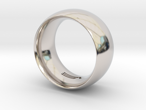 Modern+Convex_Wide in Rhodium Plated Brass: 12.5 / 67.75