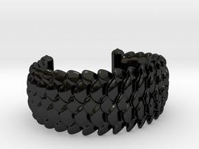 Scale 2016 Cuff Medium in Gloss Black Porcelain