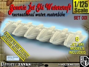 1/125 Generic Jet Ski Set001 in Smooth Fine Detail Plastic