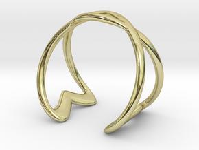 Cuff Bracelet Weave Line B-003 in 18k Gold Plated Brass