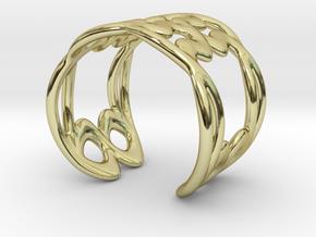 Cuff Bracelet Weave Line B-009 in 18k Gold Plated Brass