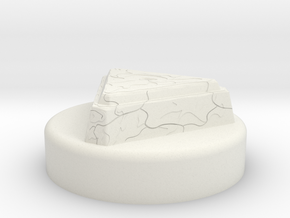 """BotW"" Master Sword Pedestal Display Base in White Natural Versatile Plastic: 1:12"