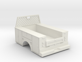 Standard Full Box Truck Bed W Cab Guard 1-50 Scale in White Natural Versatile Plastic