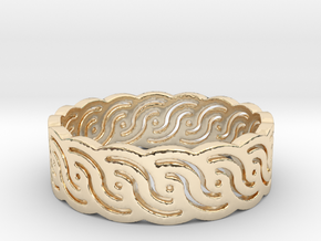 Croatian interlace female ring (+3 morale) in 14k Gold Plated Brass