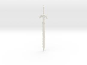 """BotW"" Dilapidated Master Sword in White Natural Versatile Plastic: 1:12"