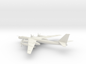 Tupolev Tu-95MS Bear-H in White Natural Versatile Plastic: 1:200