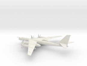 Tupolev Tu-95MS Bear-H in White Natural Versatile Plastic: 1:350