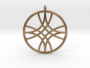 Polaris Pendant in Natural Brass