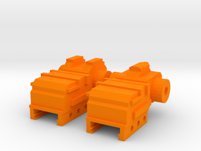 SM-55 Front and Rear Iron Sights in Orange Processed Versatile Plastic