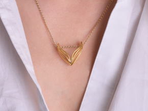 sWINGS Big, Pendant. in 18k Gold Plated Brass