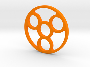 Spinner (Hand/EDC/Fidget Spinner) in Orange Processed Versatile Plastic