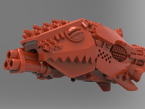 Git-Killa Battleship in Red Processed Versatile Plastic