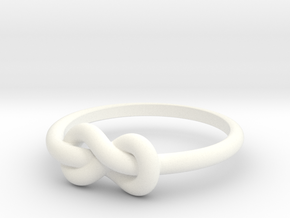 Infinity Ring in White Processed Versatile Plastic