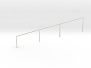 MOF Stair Railing#4 in White Natural Versatile Plastic