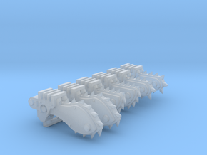 Chain Bayonets Sample in Smooth Fine Detail Plastic