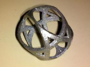 Jewish Star Sphere in Polished Bronzed Silver Steel