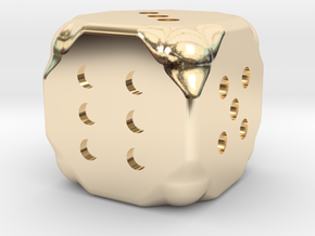 Dice in 14K Yellow Gold