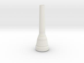8C4-GP trumpet Mouthpiece in White Natural Versatile Plastic