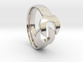 Wrench Ring  in Rhodium Plated Brass