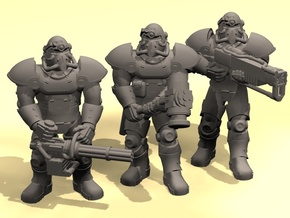 28mm Wastefall Metal Brothers squad in Smoothest Fine Detail Plastic