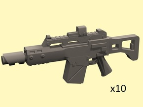 28mm LG36c laser carbine in Smoothest Fine Detail Plastic