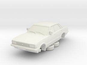 1-76 Ford Cortina Mk5 4 Door Hollow in White Natural Versatile Plastic