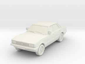 1-64 Ford Cortina Mk5 4 Door Hollow Wheels Attache in White Natural Versatile Plastic