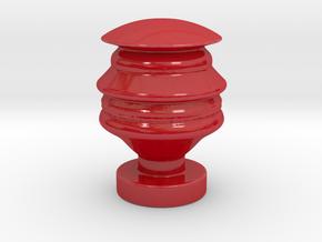 Futuristic Donald Trump head sculpture in Gloss Red Porcelain