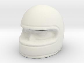 1/[18, 20, 24, 32, 43] Racer Head in Helmet 01 in White Natural Versatile Plastic: 1:18