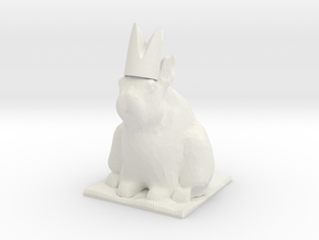 Rabbit Bishop  in White Natural Versatile Plastic