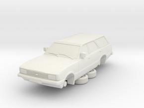 1-64 Ford Cortina Mk5 Estate Hollow in White Natural Versatile Plastic