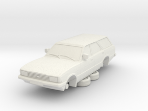 1-87 Ford Cortina Mk5 Estate Hollow in White Natural Versatile Plastic