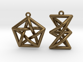 Forbidden Subgraph Earrings in Natural Bronze
