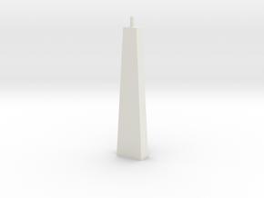 Pylon Wdw Single N 50mm in White Natural Versatile Plastic