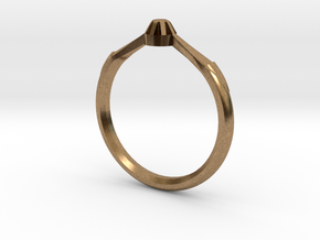Emma's Lost Ring in Natural Brass