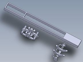 1:64 scale Straight Truck Frame And Axles in White Natural Versatile Plastic