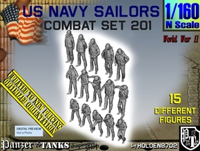 1-160 USN Combat Set 201 in Smooth Fine Detail Plastic