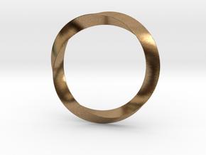 Mobius in Natural Brass (Interlocking Parts)