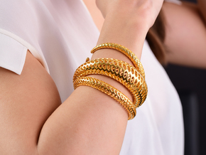 DRAGON Structura, Bracelet. Strong, Bold. in 18k Gold Plated Brass: Extra Small