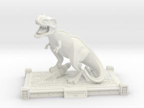 Art Deco T Rex statue in White Natural Versatile Plastic