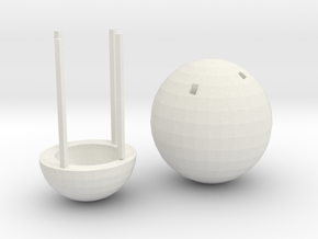 Hot Air Balloon Trinket in White Natural Versatile Plastic