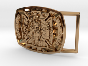 St. Florian Buckle in Polished Brass