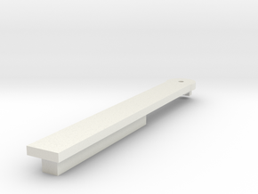Harmonica reed holder bottom in White Natural Versatile Plastic