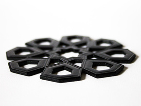Arabian Coaster 2.0 in Black Natural Versatile Plastic
