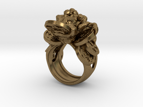 Greedy Money Toad Ring: JinChan in Natural Bronze: 7 / 54