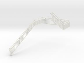 MOF Stair Railing#10 in White Natural Versatile Plastic