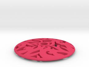 Drop Spindle Whorl--Curves in Pink Processed Versatile Plastic