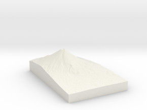 Mount Fuji in White Natural Versatile Plastic
