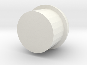 Gunder Spherical Barrel Plug in White Strong & Flexible